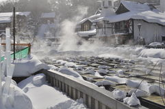 Sorgente calda Giappone di Kusatsu Fotografia Stock Libera da Diritti