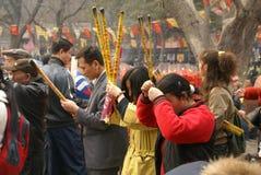 Sorgente che prega in Cina fotografia stock libera da diritti
