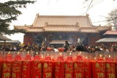 Sorgente che prega in Cina fotografie stock libere da diritti