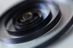 Sorgente dell'orologio interno di bianco fotografia stock libera da diritti