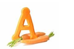 Sorgente della carota di vitamina A fotografie stock libere da diritti
