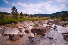 Sorgente della montagna con le rocce Immagini Stock Libere da Diritti