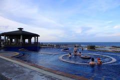 Sorgente di acqua calda di Jhaorih, isola verde, Taiwan immagini stock