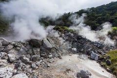 Sorgente di acqua calda di Unzen & paesaggio dell'inferno di Unzen a Nagasaki, Kyushu Immagini Stock Libere da Diritti