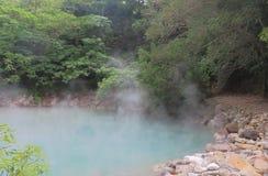 Sorgente di acqua calda termica Taipei Taiwan di Beitou della valle Fotografia Stock