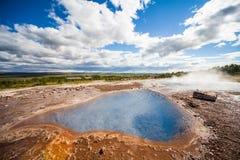 Sorgente di acqua calda vicino al geyser di Stokkur Immagine Stock Libera da Diritti