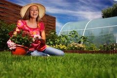 sorgente di giardinaggio Fotografie Stock