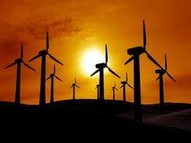 Sorgente di un'energia eolica Immagine Stock
