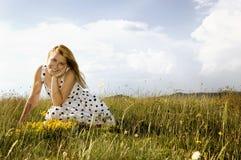 Sorgente felice Fotografia Stock Libera da Diritti
