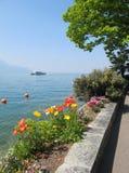 Sorgente a Montreux fotografia stock