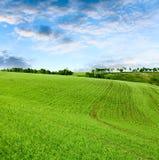 sorgente nuvolosa del cielo di paesaggio Fotografie Stock Libere da Diritti