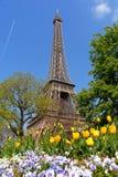 Sorgente a Parigi, Torre Eiffel Fotografia Stock Libera da Diritti