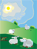 Sorgente pastorale illustrazione di stock