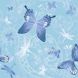 Sorgente piacevole senza giunte con la farfalla ed il fiore Fotografia Stock Libera da Diritti