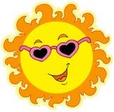 Sorgente Sun con i vetri di amore Fotografia Stock