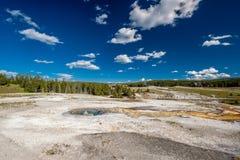 Sorgente termale calda in Yellowstone Fotografia Stock