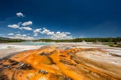 Sorgente termale calda in Yellowstone Fotografie Stock Libere da Diritti