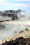 Sorgenti calde della laguna blu fotografie stock