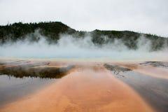 Sorgenti di acqua calda arancio Fotografia Stock