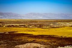 Sorgenti di acqua calda in Dallol, deserto di Danakil, Etiopia fotografia stock libera da diritti