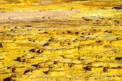 Sorgenti di acqua calda in Dallol, deserto di Danakil, Etiopia immagine stock libera da diritti