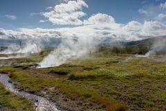 Sorgenti di acqua calda dell'Islanda fotografia stock