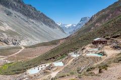 Sorgenti di acqua calda delle Ande, Cajon del Maipo Fotografia Stock Libera da Diritti