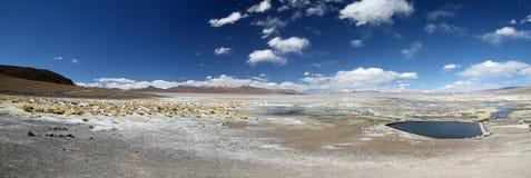 Sorgenti di acqua calda di vista panoramica Immagini Stock Libere da Diritti