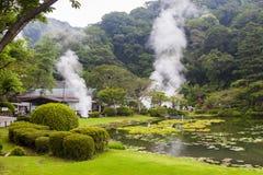 Sorgenti di acqua calda nel Giappone fotografia stock