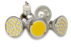 Sorgenti luminose efficienti su bianco Fotografia Stock Libera da Diritti
