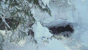 Sorgenti termali dei precedenti dell'inverno stock footage