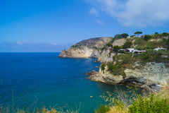 Sorgeto beach, Ischia. Sorgeto is a wild beach with natural termes Royalty Free Stock Image