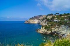 Sorgeto plaża, Ischia Obraz Royalty Free