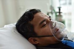 Sorgfalt der Lebensversicherung, wenn krank oder verletzt stockbild