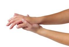 Sorgfalt für Sinnlichkeitfrauenhände Lizenzfreie Stockbilder