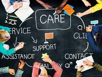 Sorgfalt-Versicherungs-Gesundheitswesen-Schutz-Sicherheits-Konzept Lizenzfreies Stockfoto