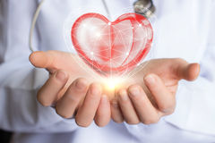Sorgfaltbehandlung und Unterstützung des Herzens Lizenzfreie Stockbilder