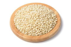 Sorghum, tilt shift lens. Sorghum in the wooden plate, tilt shift lens Royalty Free Stock Photography