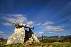 Sorginetxe dolmen Arkivfoto