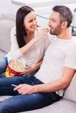 Sorglose Zeit zusammen genießen Lizenzfreies Stockfoto