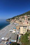 Sori, Italy - vertical composition. Overview of Sori, small town in Liguria, Italy Stock Photo
