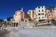 Sori, Liguria, Italy. View from the seaside in Sori, small village in Liguria, Italy Stock Image