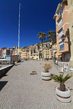 Sori, the promenade. Promenade in Sori, amazing village in Liguria, Italy Stock Image