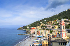 Sori, small town in Liguria, Italy. Off season view of Sori, small town in Liguria, Italy Royalty Free Stock Images