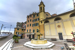 Sori, tourist village near Genoa. Sori, tourist fish  village near Genoa Royalty Free Stock Images