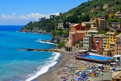 Sori. The town Sori in Italy, Liguria Royalty Free Stock Image