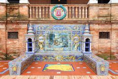 Soria. Ornamental theme. Famous ceramic decoration in Plaza de Espana, Sevilla, Spain stock images