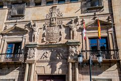 Views of the city Soria. SORIA IN CASTILLA AND LEON, SPAIN, MAY 18,2018: Details of Soria stock photo