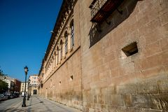 Views of the city Soria. SORIA IN CASTILLA AND LEON, SPAIN, MAY 18,2018: Details of Soria stock photography