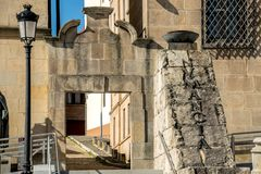 Views of the city Soria. SORIA IN CASTILLA AND LEON, SPAIN, MAY 18,2018: Details of Soria stock images